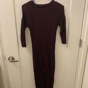 Purple New York &Company knee length sweater dress